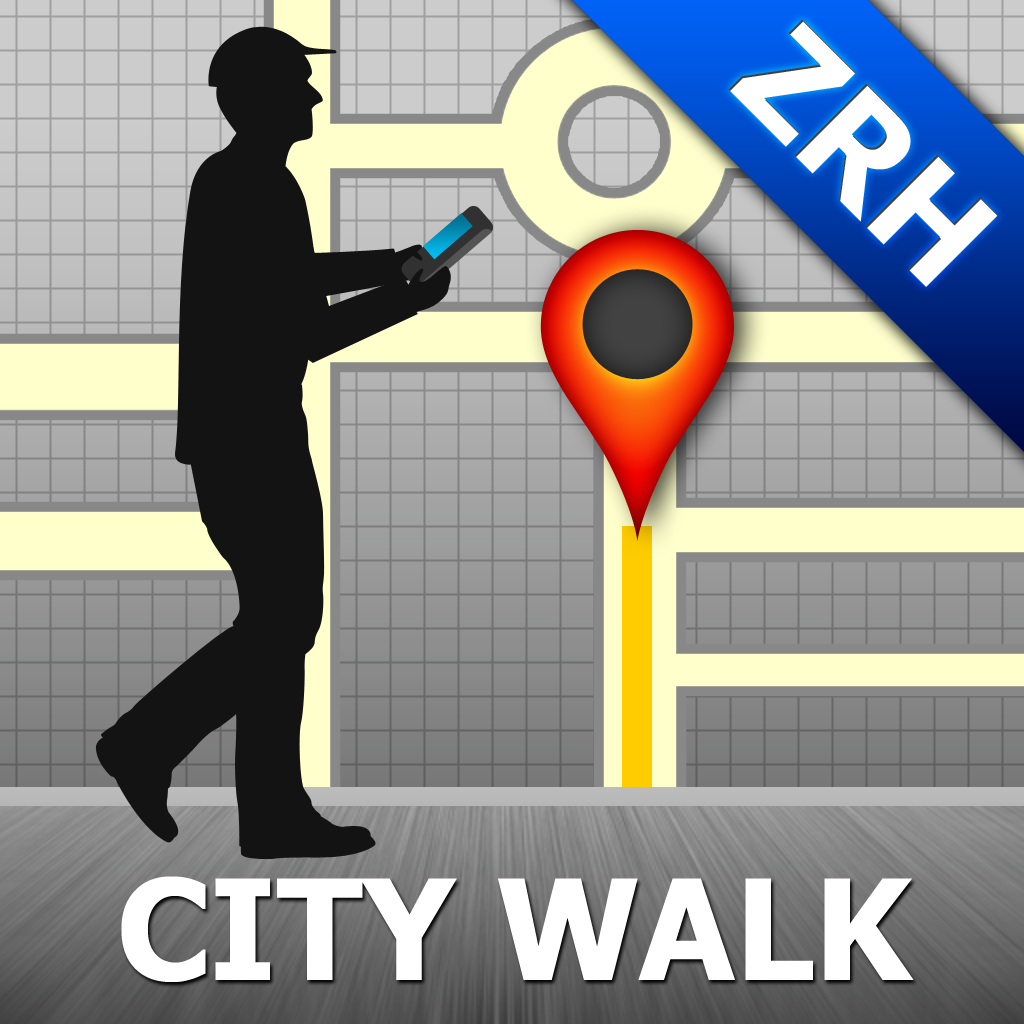Zurich Map and Walks, Full Version - GPSmyCity.com, Inc.